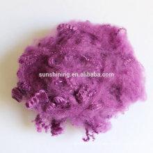 Fibra descontínua de poliéster regenerada, grampo de fibras de poliéster tingido, fibra sintética