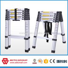 Échelle télescopique d'aluminium de prix / échelle tactique / support d'échelle support d'arbre d'échelle d'arbre en aluminium