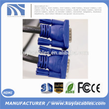 15FT 15 PIN BLUE SVGA VGA ADAPTER Monitor M/M Male To Male Cable CORD FOR PC TV