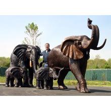 бронзовое литье отливок металлические ремесла бронзовый слон EN бронзовой статуей