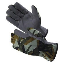 Camouflage military gloves with synthetic leather ZM355-H