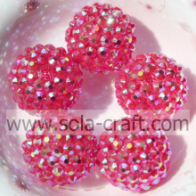 Clear Rose AB 18*20MM Acrylic Resin Rhinestones Beads For Bracelet