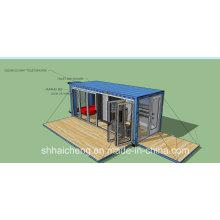Maison préfabriquée mobile de récipient de coût bas à vendre