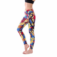 Hot sale fitness breathable lady custom order digital printed women sport wear yoga pants leggings