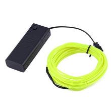 3M 9,6 pés flexível Neon Light EL fio corda tubo + controlador surpreendentemente brilhante nova geração de Micro LEDs para interior e exterior