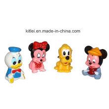 Mini novidade cartoon figura animal crianças bebê inflável kitty ursinho de pelúcia brinquedos de plástico