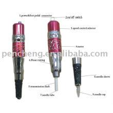 Красный цветок Перманентный макияж ручная машина для татуировки бровей питания