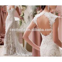 Corsé Sweetheart Sexy Backless vestidos de novia de tren largo Vestidos de novia de lujo