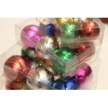 Enfeite de bola de decoração de árvore de Natal com desenhos pontilhados