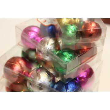 Ornement de boule de décoration d'arbre de Noël avec des dessins en pointillés