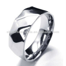 simple fashion shining argyle 316 stainless steel ring