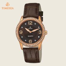 Vague Aço Inoxidável Sapphire Cristal Quartz Ladies Watches71112
