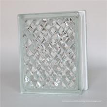 Bloco de vidro cinzelado gelo de 190 * 190 * 80mm