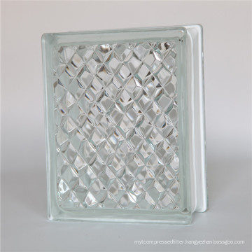 190*190*80mm ice carved glass block