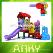 2015 newly designed CE certificated kids plastic slide outdoor park play structure play house