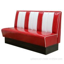 Hot Sale Restaurant Retro American Leather Bel Air Booth (SP-KS269)