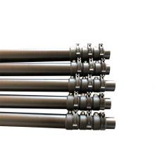Portable 30 feet fiberglass tapered telescopic tube for household gutter cleaning tool