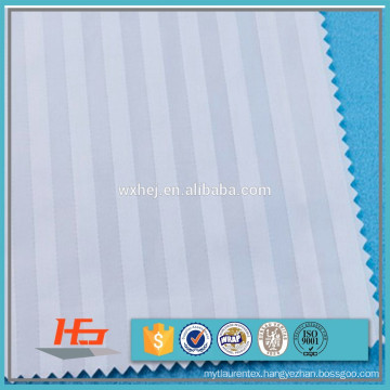 Wholesale White Stripe Cotton/polyester fabric cvc 60/40