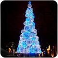 Décorations commerciales de vacances en plein air grand arbre de Noël