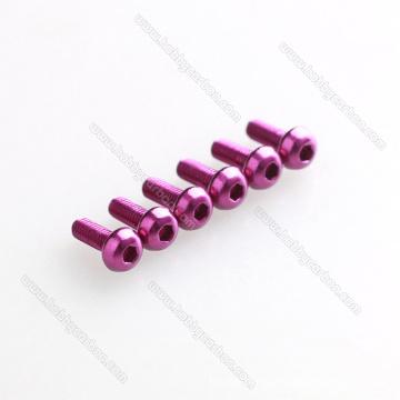 OEM Colorful Aluminum 6061/7075 Hexagon round head screw