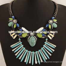 Newest fashion handmade stone necklaces
