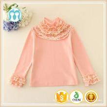 2015 conjuntos de roupas meninas crianças roupas venda quente meninas roupas crianças lace neck undershirt crianças menina roupas