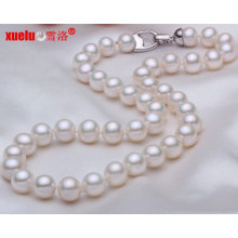 Vente en gros 8-9mm Perfect Round Classic Weeding Pearl Necklace