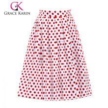 19 Colors ! Grace Karin Cheap Occident Short 50s Retro Vintage Cotton Fraric Skirt CL6294-10#