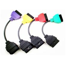 Adaptadores para FIAT ECU exploración diagnóstico Cable de cuatro colores