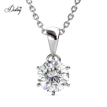 2021 New Luxury Jewelry 925 Sterling Silver 1.0 Carat Moissanite Diamond Les Solitaire Pendant Necklace