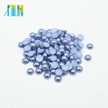 Z15-Med.Sapphire gros dôme dos plat demi perle perles bricolage strass perle bijoux