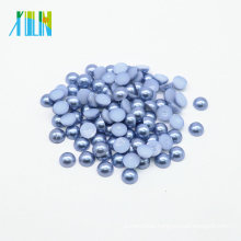 Z15-Med.Sapphire Wholesale Domed Flat Back Half Pearl Beads DIY Rhinestone Pearl Jewelry