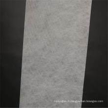 Tissu polyester cousu blanc