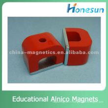 63.5X46X47.6mm de forme de fer à cheval aimant alnico éducatifs