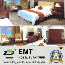 High Quality Hotel Furniture Designs Wood Bedroom Furniture Set (EMT-629)