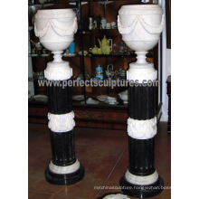 Garden Stone Flower Pot for Home Decoration (QFP330)