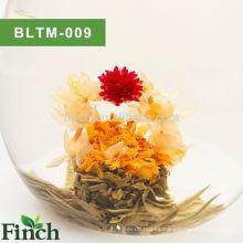 100% hecho a mano chino té verde de Fujian con sabor a flores floreciente bola de té (Shui Zhong Hua Lan)