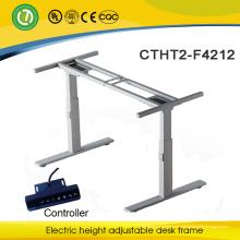 cadre de table d'ordinateur réglable de taille de luxe Electric Lift Sit or Standing Desk frame