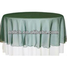 Pura overlay para toalha de mesa, sobreposição de tabela de organza, sobreposição ornamentada