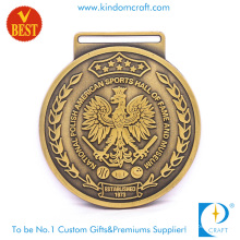High Quality Customized Zinc Alloy 3D American Sports Medal with Pressure Stamping