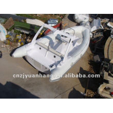 Best sell (1.2mm) pvc material fiberglass hull rib boat 680 with console