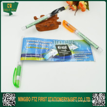 Stylo de bannière en papier plastique 2 en 1