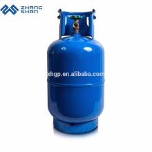 Cilindro de gás descartável de hélio 12,5 kg GLP para cozinha doméstica