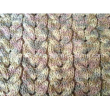 Acrylic Cable Knit Fabric for Blanket Shoes Sweaters Pillow Cushion