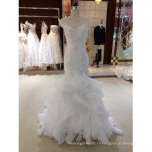 Русалка Рюшами Из Органзы Свадебное Платье