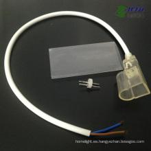 Cable conectado frontal Wateproof para DC12V / 24V LED de un solo color Neon Flex