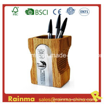 Big Wooden Sharpener Shape Pen Holder