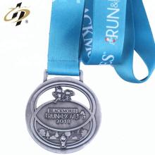 Barato medalla de carreras de logotipo de ambos lados promocional para souvenir