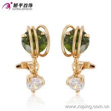 91028 Pendiente de joyería de imitación dorado y elegante de 18 quilates para mujer