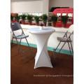 80cm Outdoor Furniture High Top Plastic Foldable Round Bar Mesa e cadeira com pernas altas